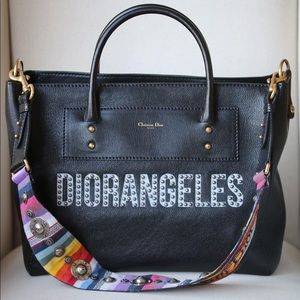 Christian Dior DIORANGELES Black Leather Tote